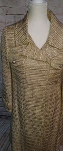 Gold Coat Vintage Sz 8 glittery bling